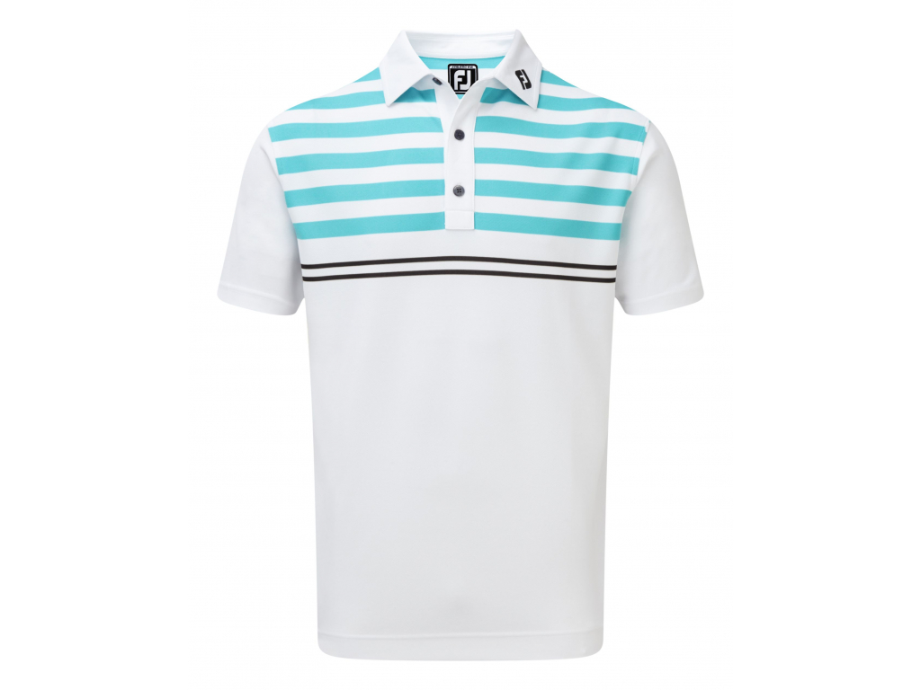 FJ19 Smooth Pique with Graphic Stripes 90022 FRONT