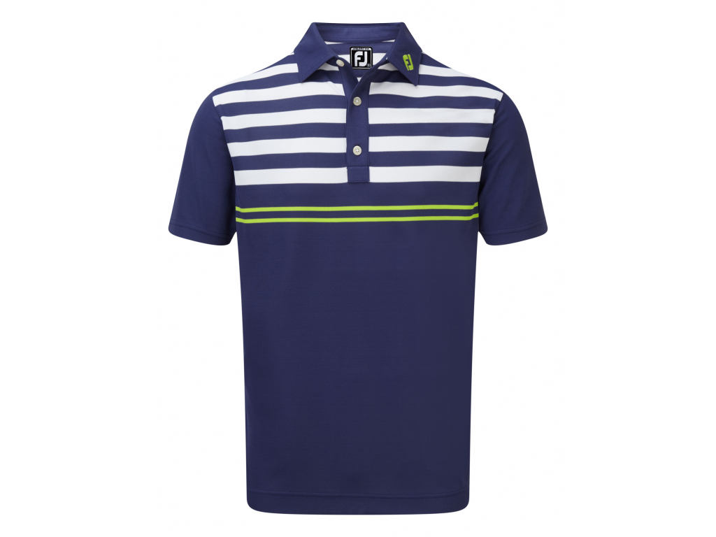 FJ19 Smooth Pique with Graphic Stripes 90024 FRONT