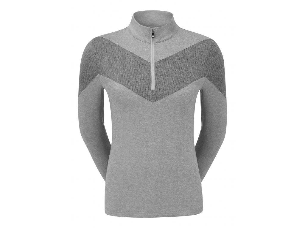 FootJoy Engineered Jersey Half Zip, Heather Grey