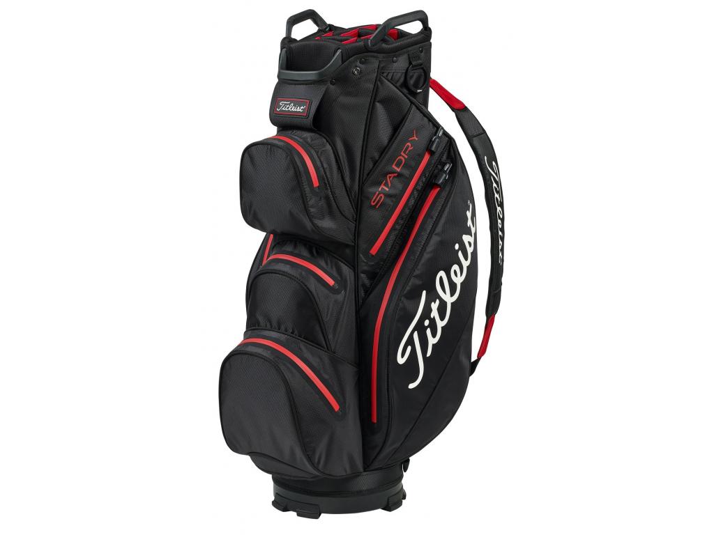 Titleist StaDry Cart bag, Black, Red