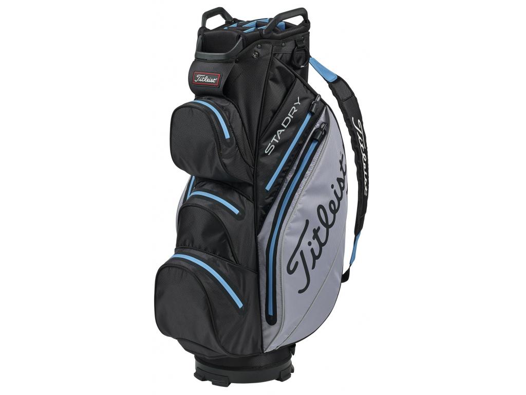 Titleist StaDry Cart bag, Black, Sleet, Process blue