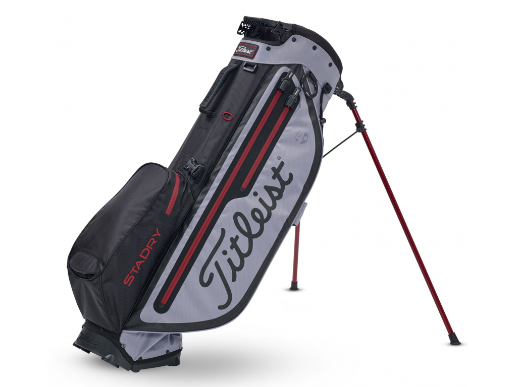 Titleist Players 4 Plus StaDry, Black, Sleet, Dark Red