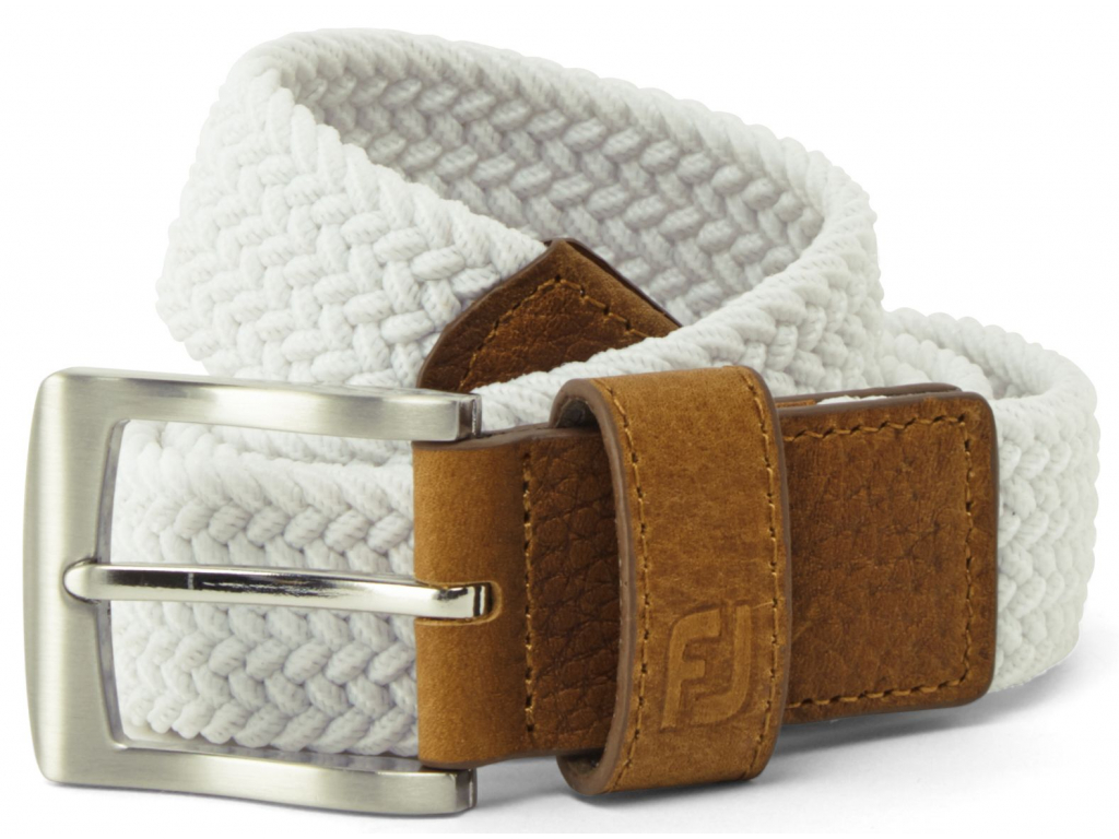 FJ19 Belt Braided White