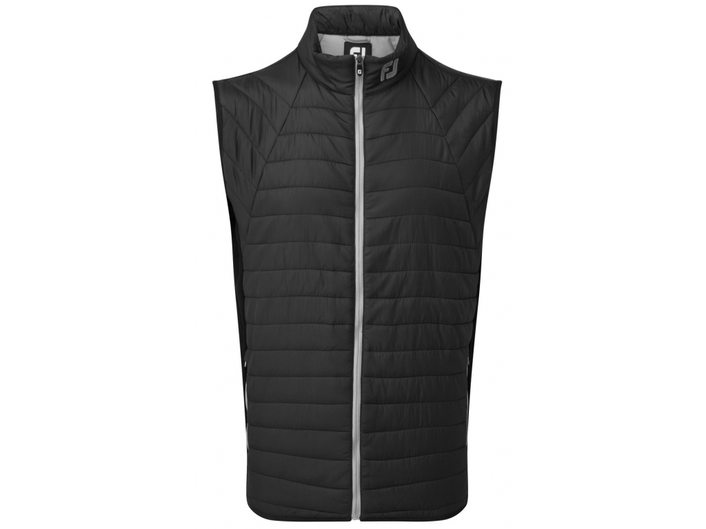 FootJoy Thermal Quilted Vest, Black, Grey
