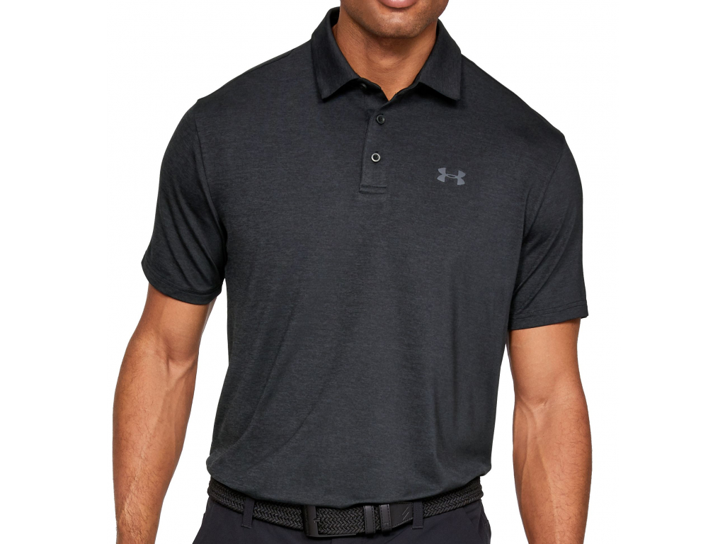 Under Armour Playoff Polo 2.0, Black, Pitch Gray