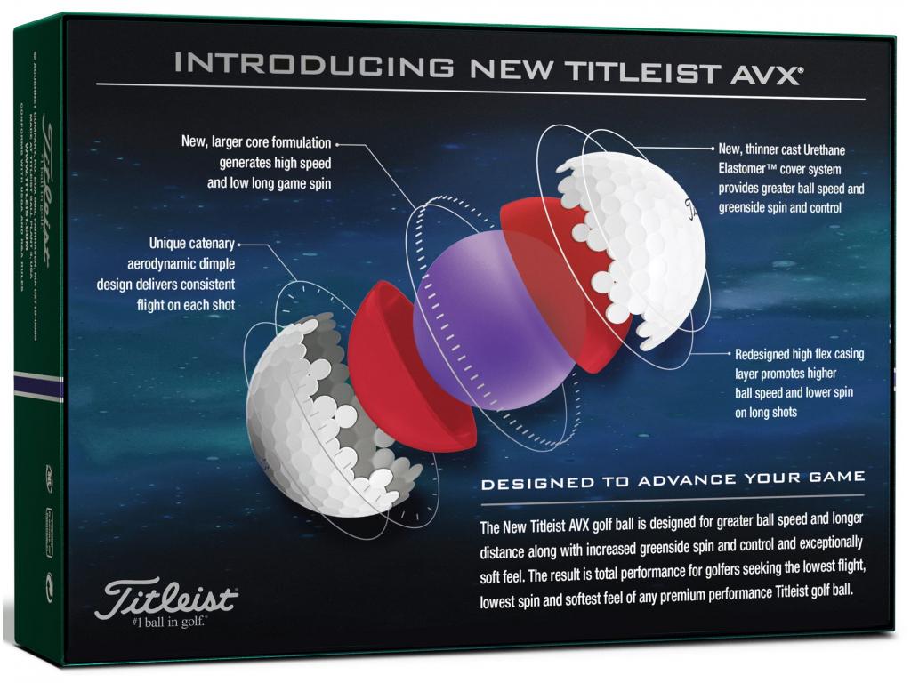 Titleist AVX 2020, bílé  12 míčků v balení
