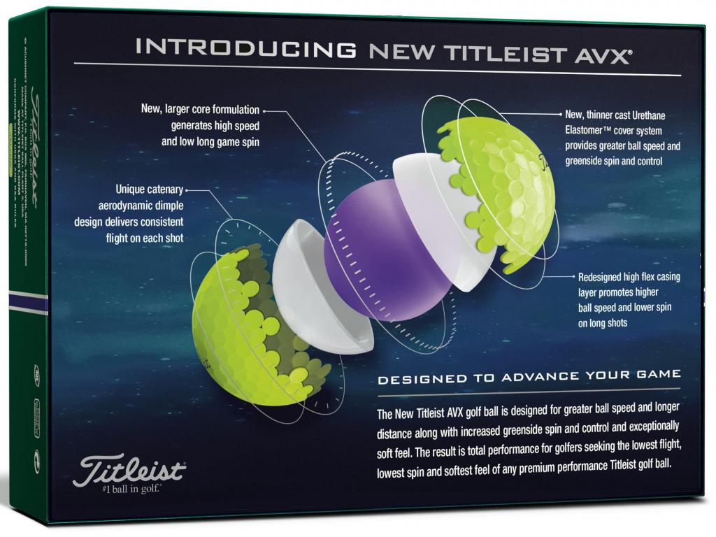 Titleist AVX 2020, žluté  12 míčků v balení