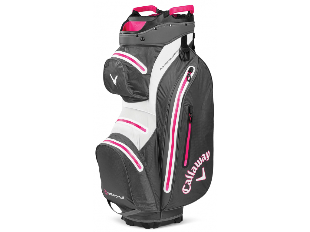 Callaway Hyper Dry 15, Charcoal, White, Pink
