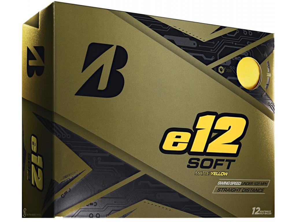 Bridgestone e12 Soft, matné žluté    3 golfové míčky