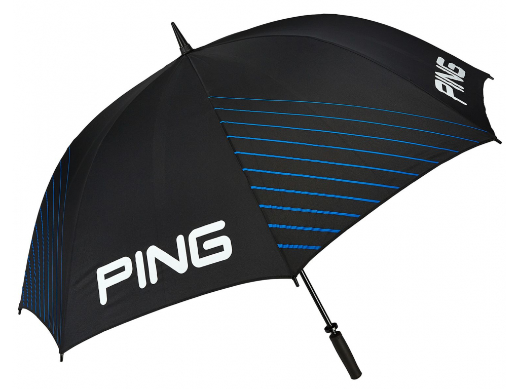 Ping Single Canopy Umbrella, Black, Mach Blue