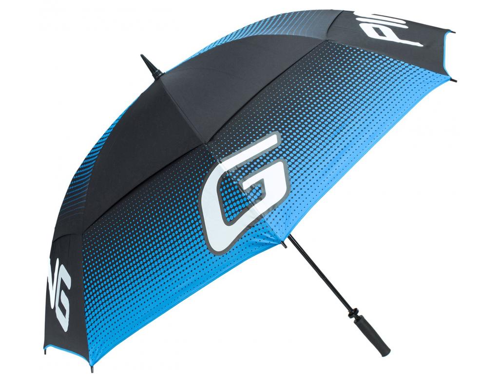 Ping G Tour Umbrella, Black, Birdie Blue