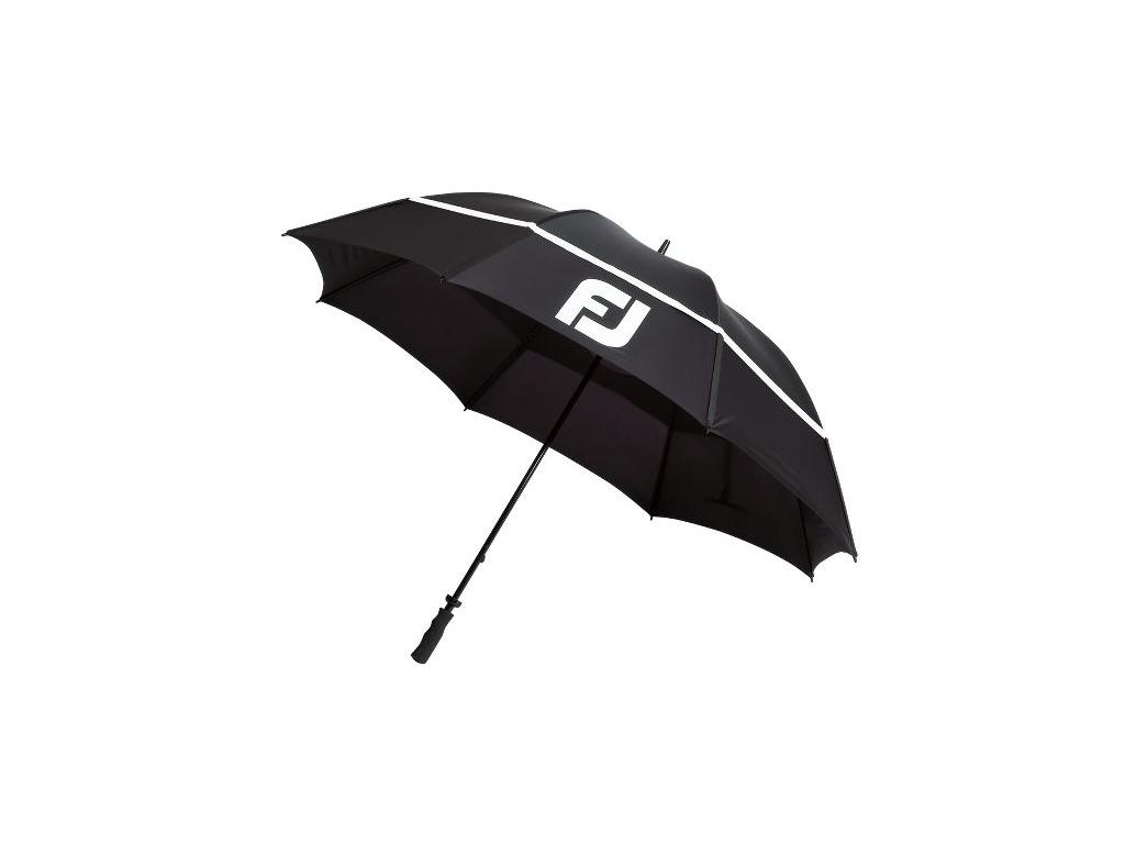 """FootJoy DryJoys Umbrella 68"""", Black, White"""