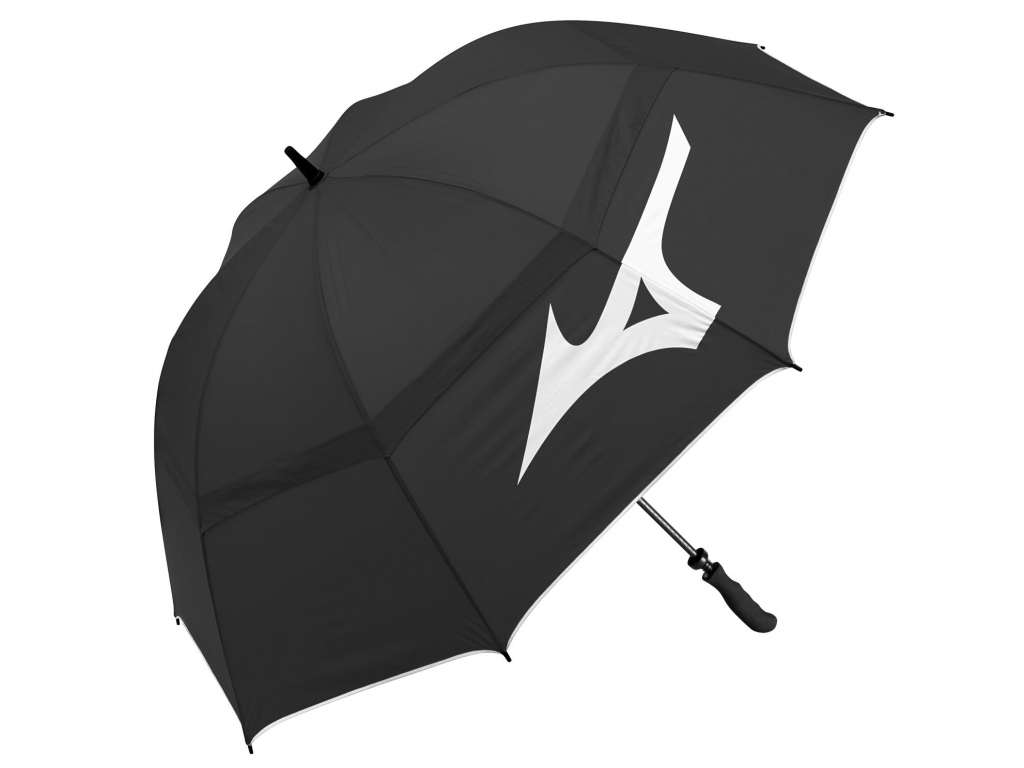 """Mizuno Twin Canopy Umbrella, 68"""", Black"""
