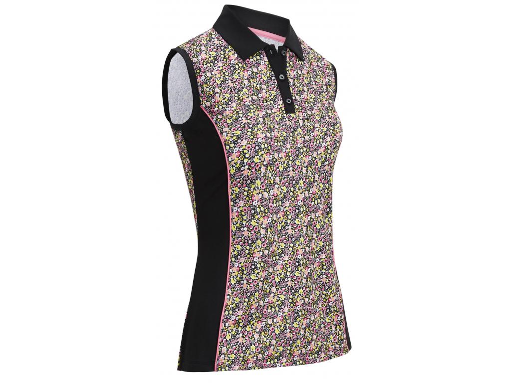 Callaway Ditsy Print Sleeveless, golfové tričko