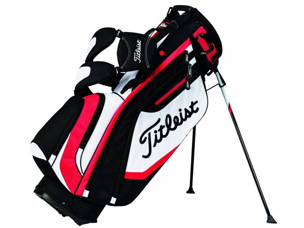 166 titleist lightweight stand black white red