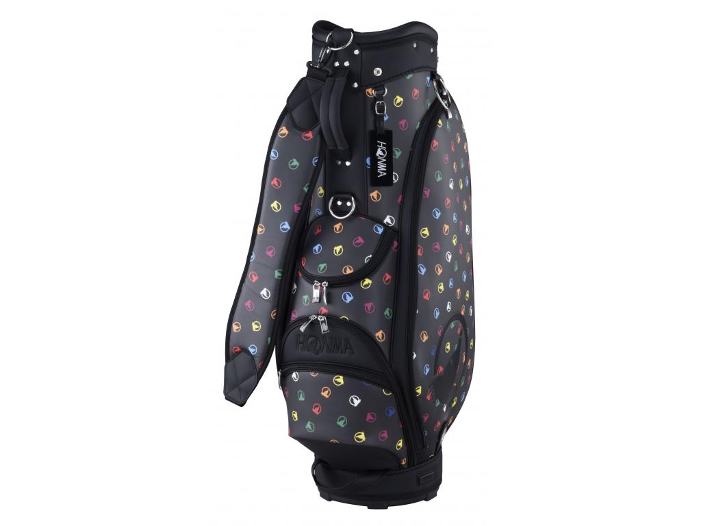 Honma Color Mole Caddie  bag, Black