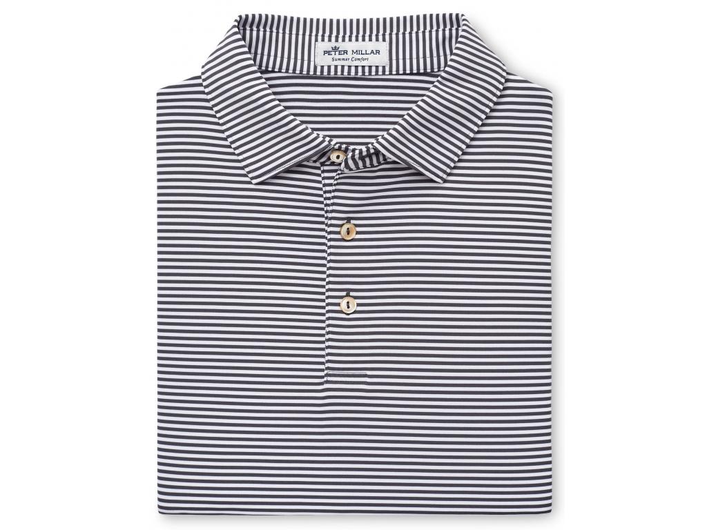 Peter Millar Hales Stripe Jersey Polo, Iron