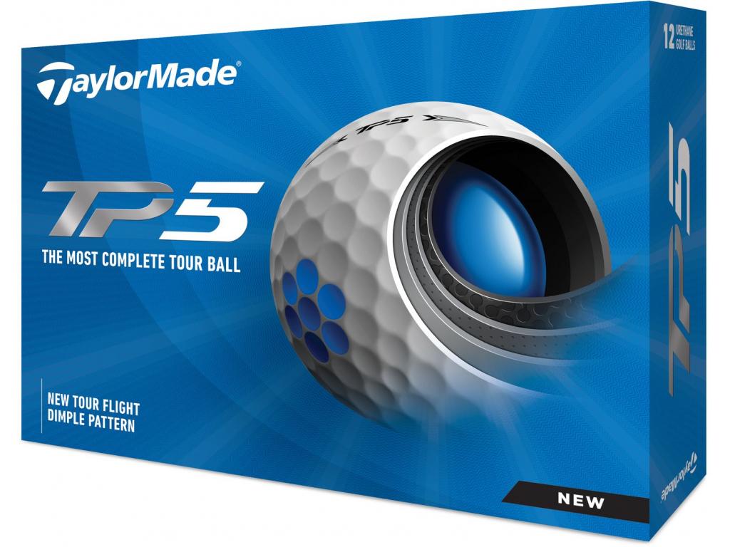 Golfové míčky TaylorMade TP5 21, bílé    3 golfové míčky