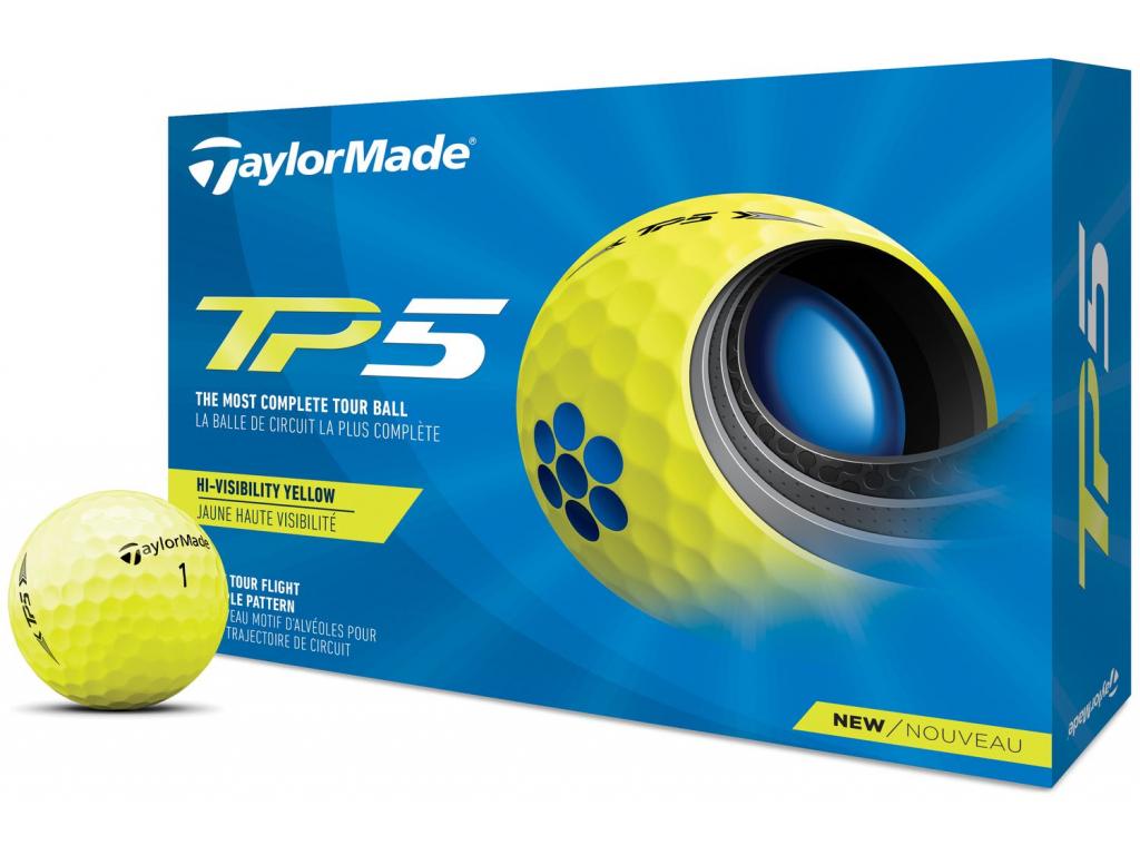 TaylorMade TP5 21, žluté    3 golfové míčky