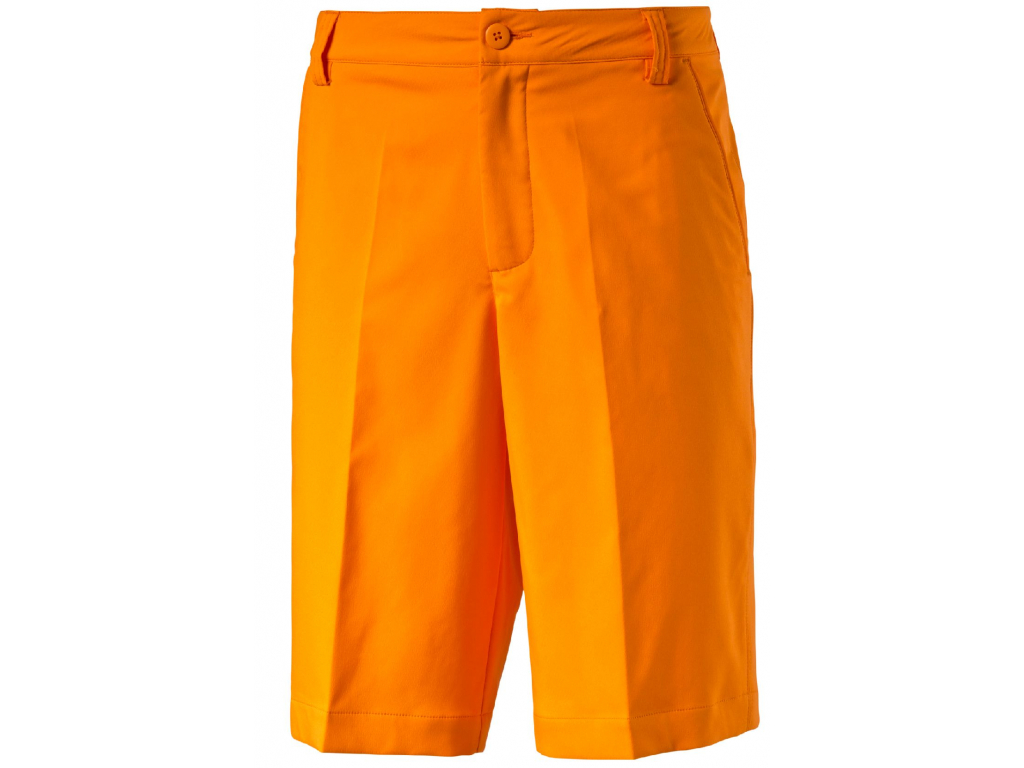 487 puma golf tech short vibrant orange