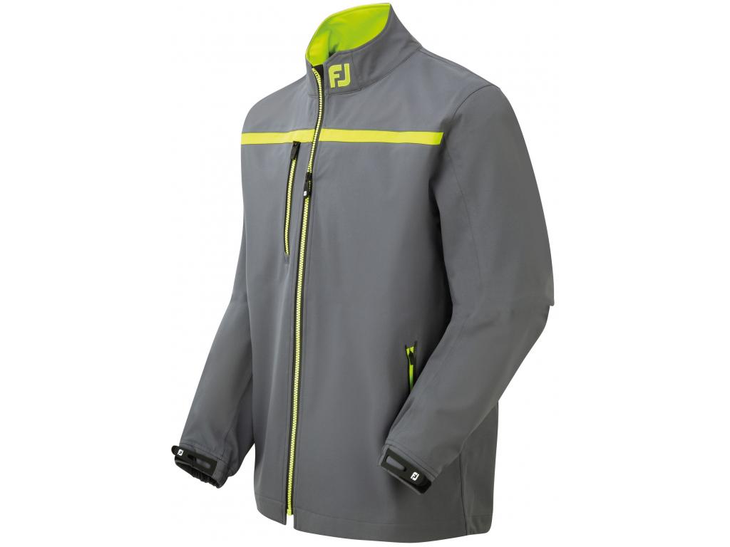 FootJoy DryJoys Tour XP Rain Jacket, Charcoal, Lime, Black