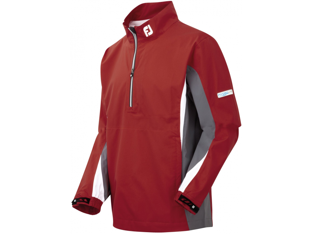 FootJoy Hydrolite Rain Shirt, Red, Charcoal, White