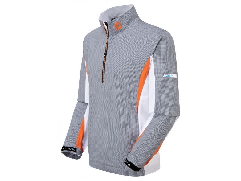 FootJoy Hydrolite Rain Shirt, Grey, White, Charcoal