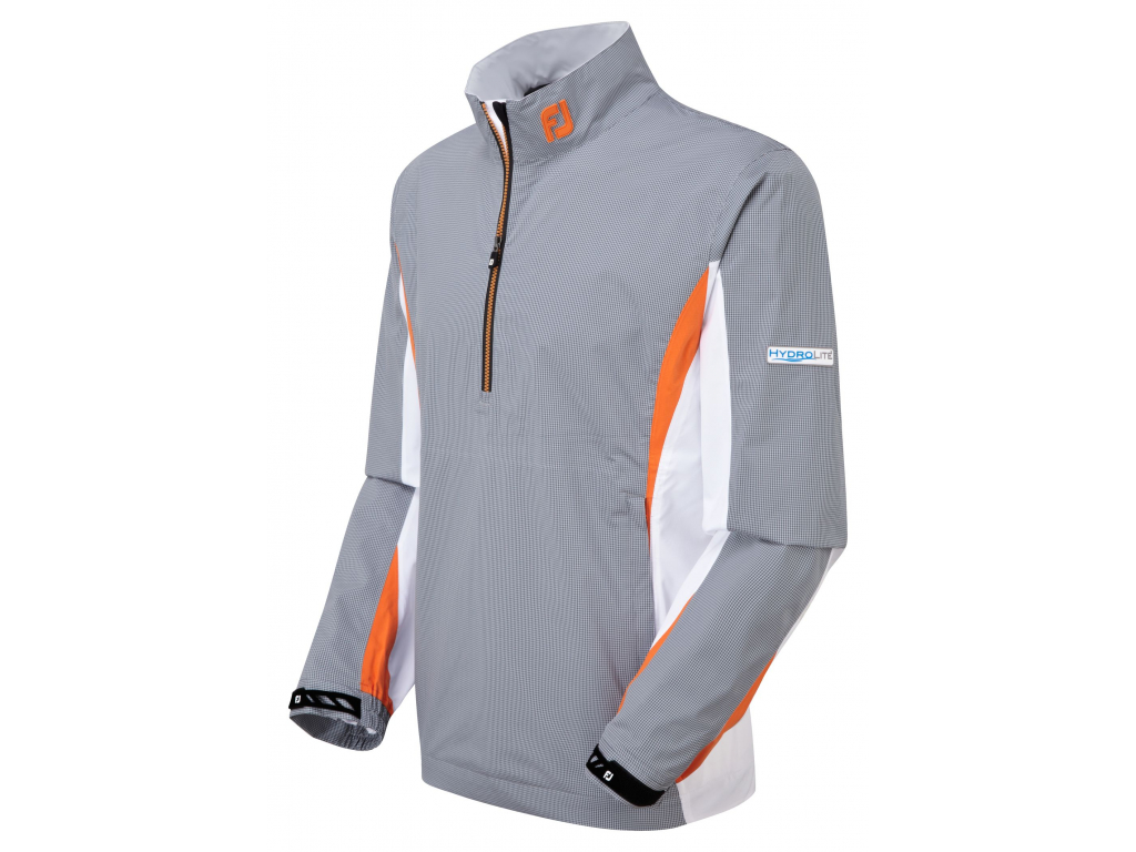 577 footjoy hydrolite rain shirt grey white charcoal