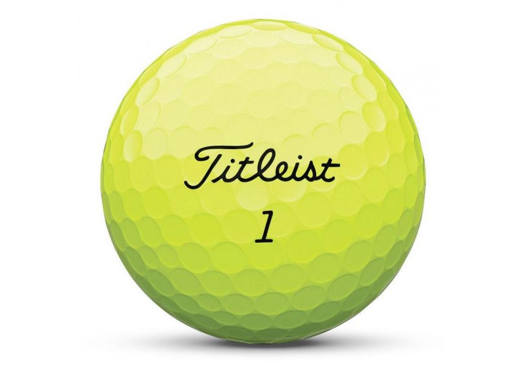Titleist AVX, žluté, 12ks, golfové míčky  2019-2020