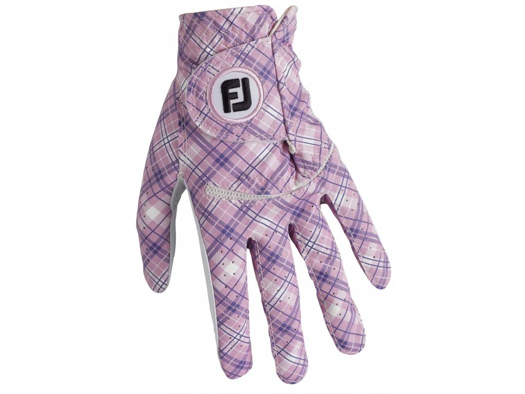 FootJoy Spectrum Pink Tartan, pro ženy, na levou ruku
