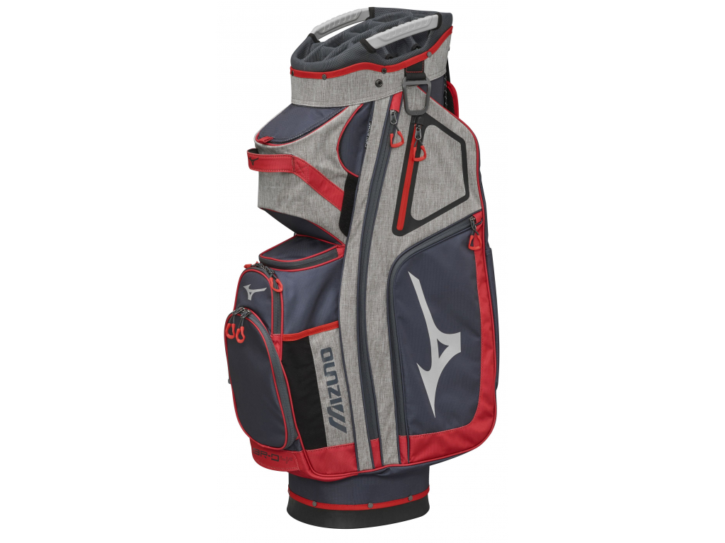 Mizuno BR-D4 Cart bag, Šedý, Červený