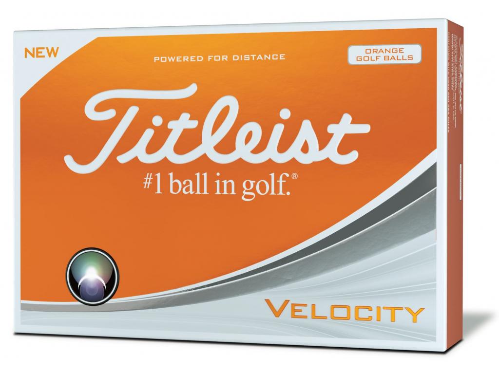 Titleist Velocity, Orange, 12 míčků  2019-2020