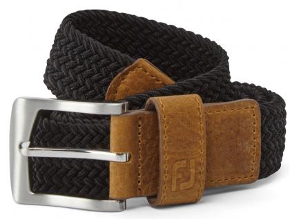 FootJoy Braided Belt, Black, Regular