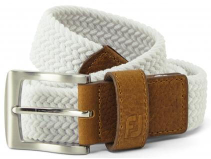 FootJoy Braided Belt, White, Regular