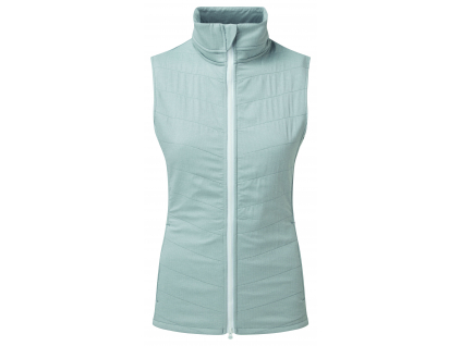 FootJoy Womens Thermal Quilted Vest, Heather Grey, White  96099