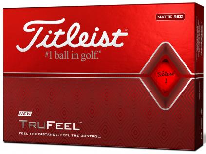 Titleist TruFeel, matná červená  | 3 golfové míčky
