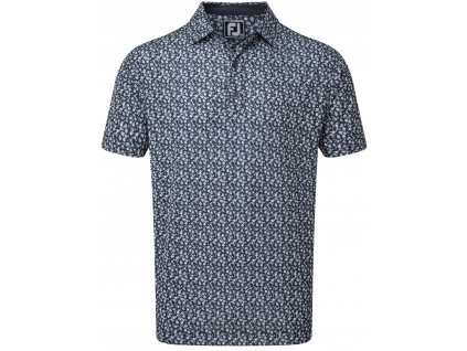 FootJoy Lisle Flower Print, Navy