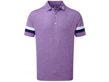 FootJoy Smooth Pique Spacedye, Purple, Deep Blu, White