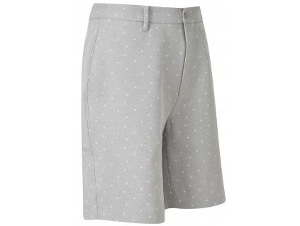 FootJoy FJ Print Shorts, Grey, White