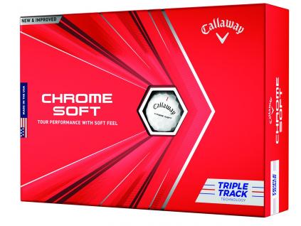 Callaway Chrome Soft Triple Track, golfové míčky  | 3 golfové míčky