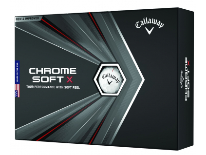 Callaway Chrome Soft X, bílé    3 golfové míčky