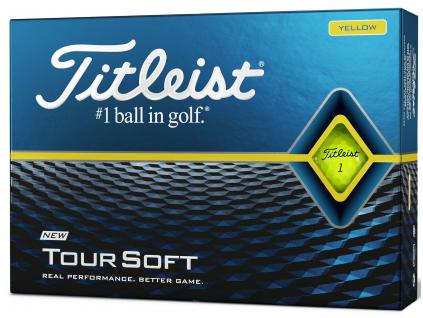 Titleist Tour Soft 2020, žluté  | 3 golfové míčky