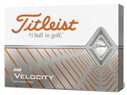 Titleist Velocity 2020, bílé  | 3 golfové míčky