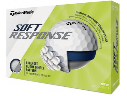 TaylorMade Soft Response, bílé  | 3 golfové míčky