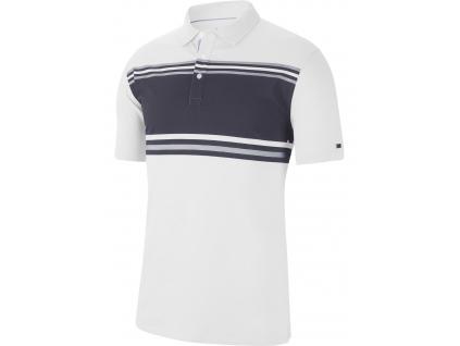 Nike Dry Player Polo Stripe, White