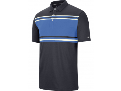 Nike Dry Player Polo Stripe, Pacific Blue