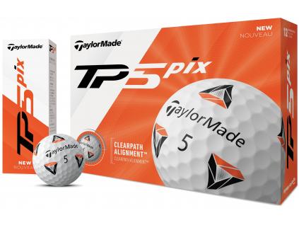 TaylorMade TP5 Pix  | 3 golfové míčky