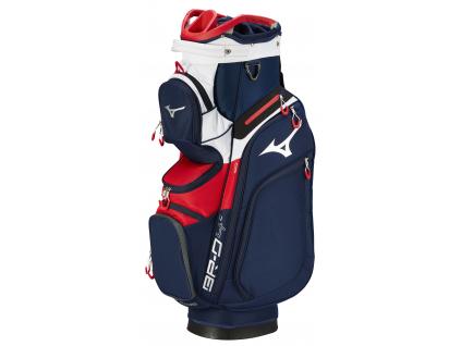 Mizuno BR-D4, Cart Bag, Navy, Red
