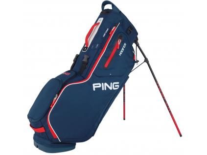 Ping Hoofer, modrý, červený, bílý