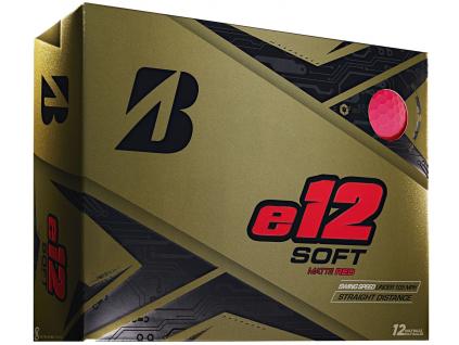 Bridgestone e12 Soft, matné červené, 12 míčků